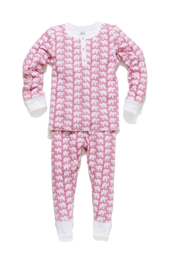 Shoptiques Product: Elephant Pj Set-Kids-Pink