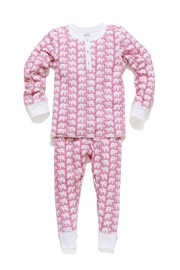Roberta Roller Rabbit Elephant Pj Set-Kids-Pink - Product Mini Image