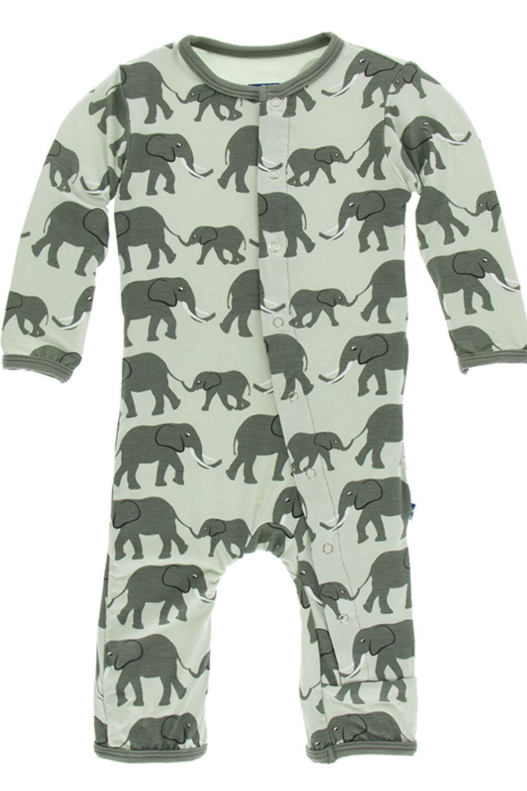 Kickee Pants Elephant Snap Coverall - Front Cropped Image