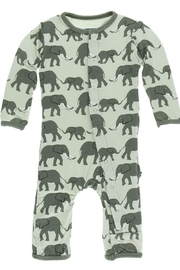 Kickee Pants Elephant Snap Coverall - Front cropped