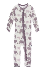 Kickee Pants Elephant Zipper Coverall - Front cropped
