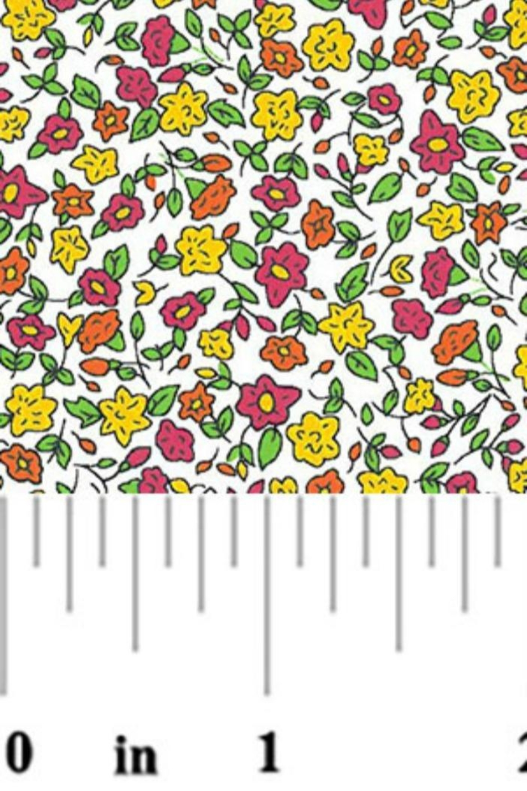 Elephants and Giraffes Floral Fabric - Main Image