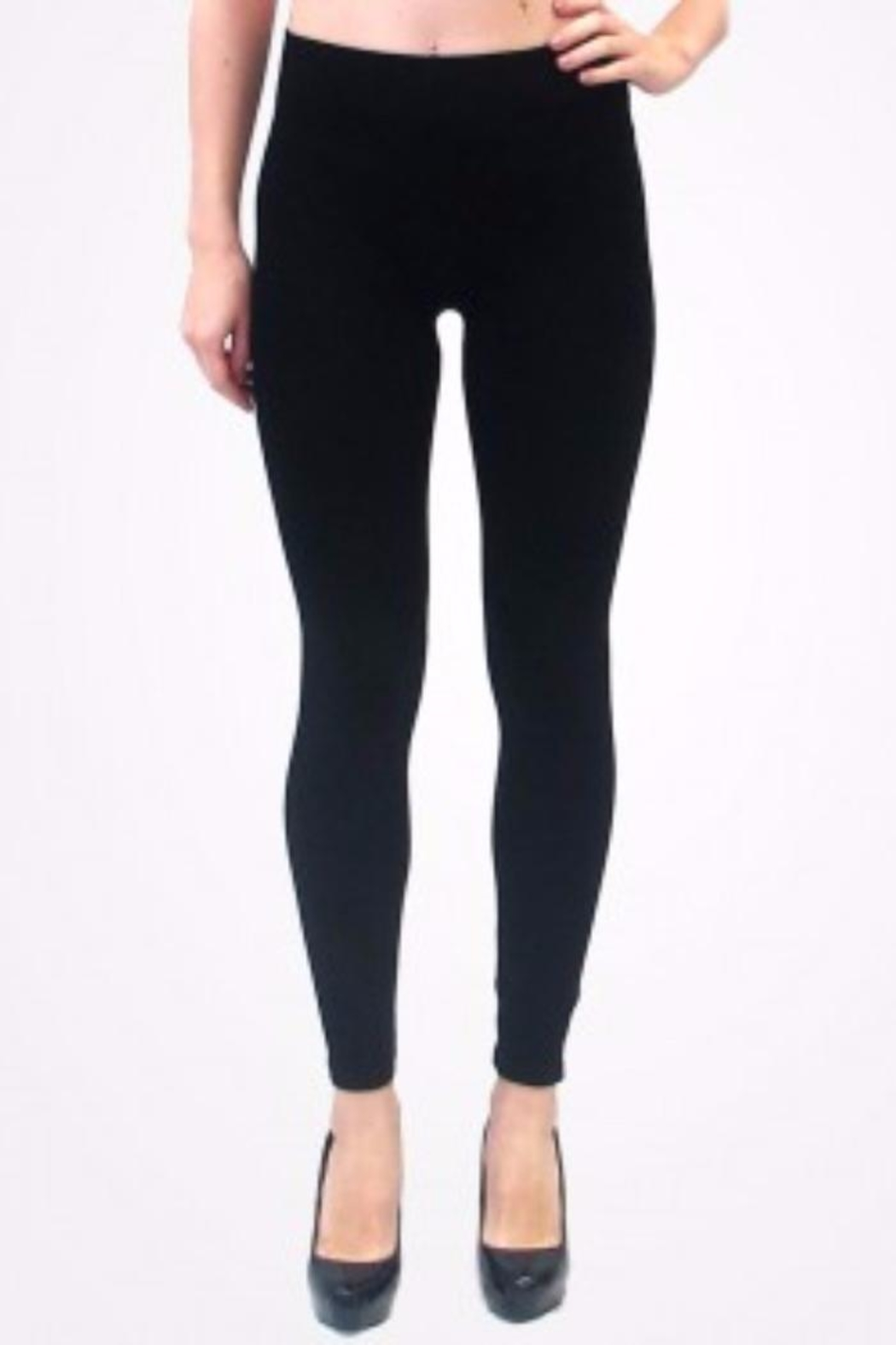 ELETIAN Traditional Rise Leggings - Front Cropped Image