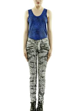Shoptiques Product: Marbleized Coated Jeans