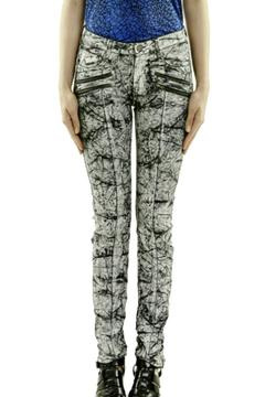 Eleven Paris Marbleized Coated Jeans - Product List Image