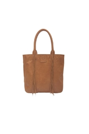 Elf Handmade Leather Tassel Tote - Front cropped