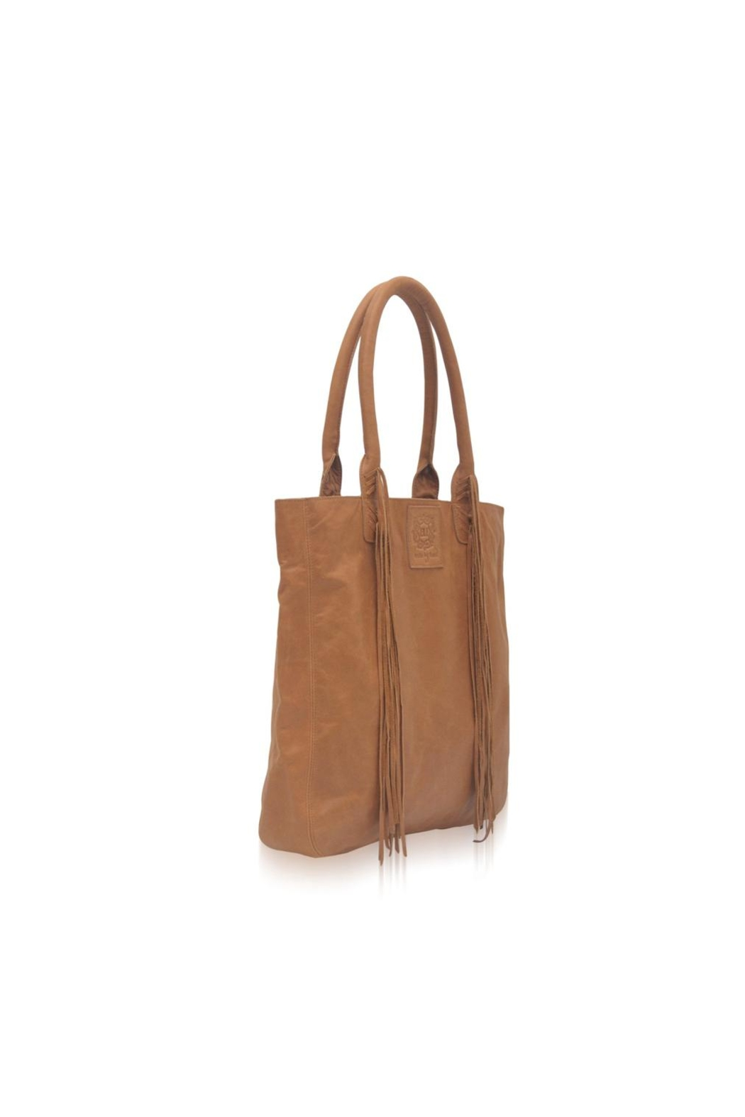 Elf Handmade Leather Tassel Tote - Front Full Image