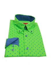 Elie Balleh Polka Dot Shirt - Front full body