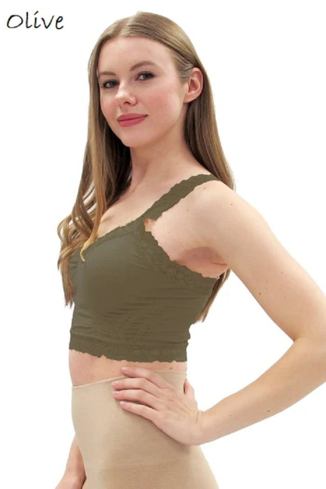 Elietian One-Size Lace Bralette - Front Cropped Image