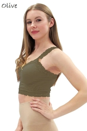 Elietian One-Size Lace Bralette - Front cropped