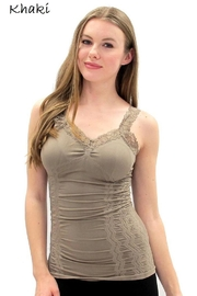 Elietian Seamless Lace Camisole - Front cropped