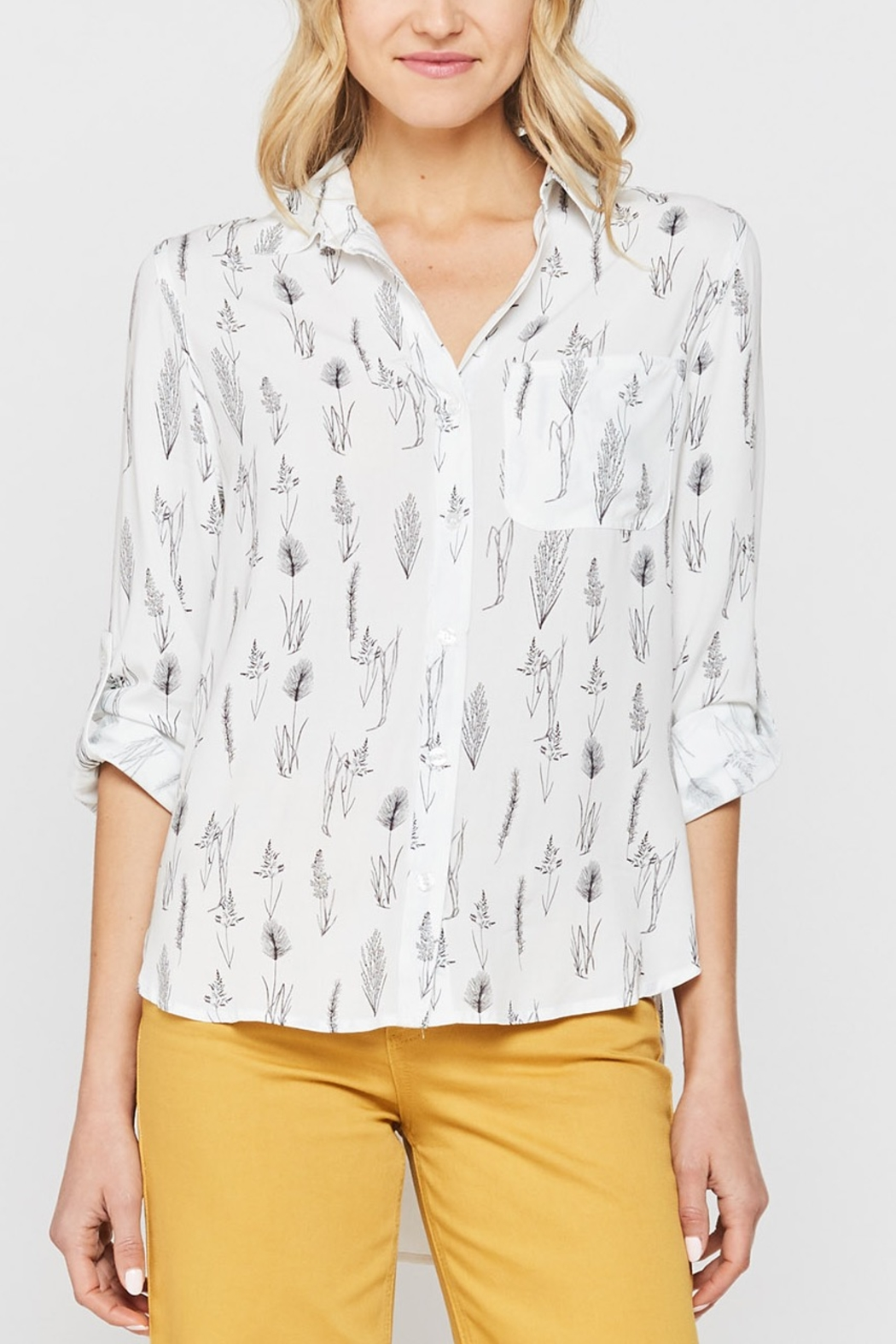 Velvet Heart Elisa Button Down Shirt - Front Cropped Image