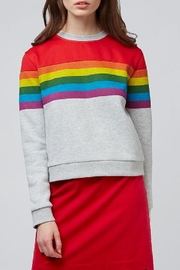 Pink Poodle Boutique Elisa Rainbow Sweatshirt - Product Mini Image