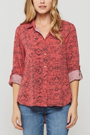 Velvet Heart Elisa Snake Print Button Down - Product Mini Image