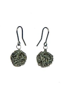 Shoptiques Product: Knitted Silverballs Earrings
