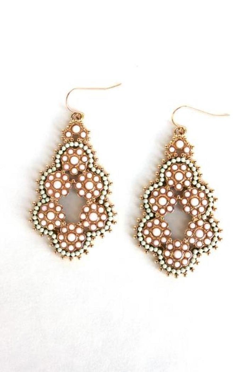 Elise Beaded Cutout Earrings - Main Image