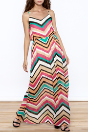 Elise Chevron Maxi Dress - Product Mini Image