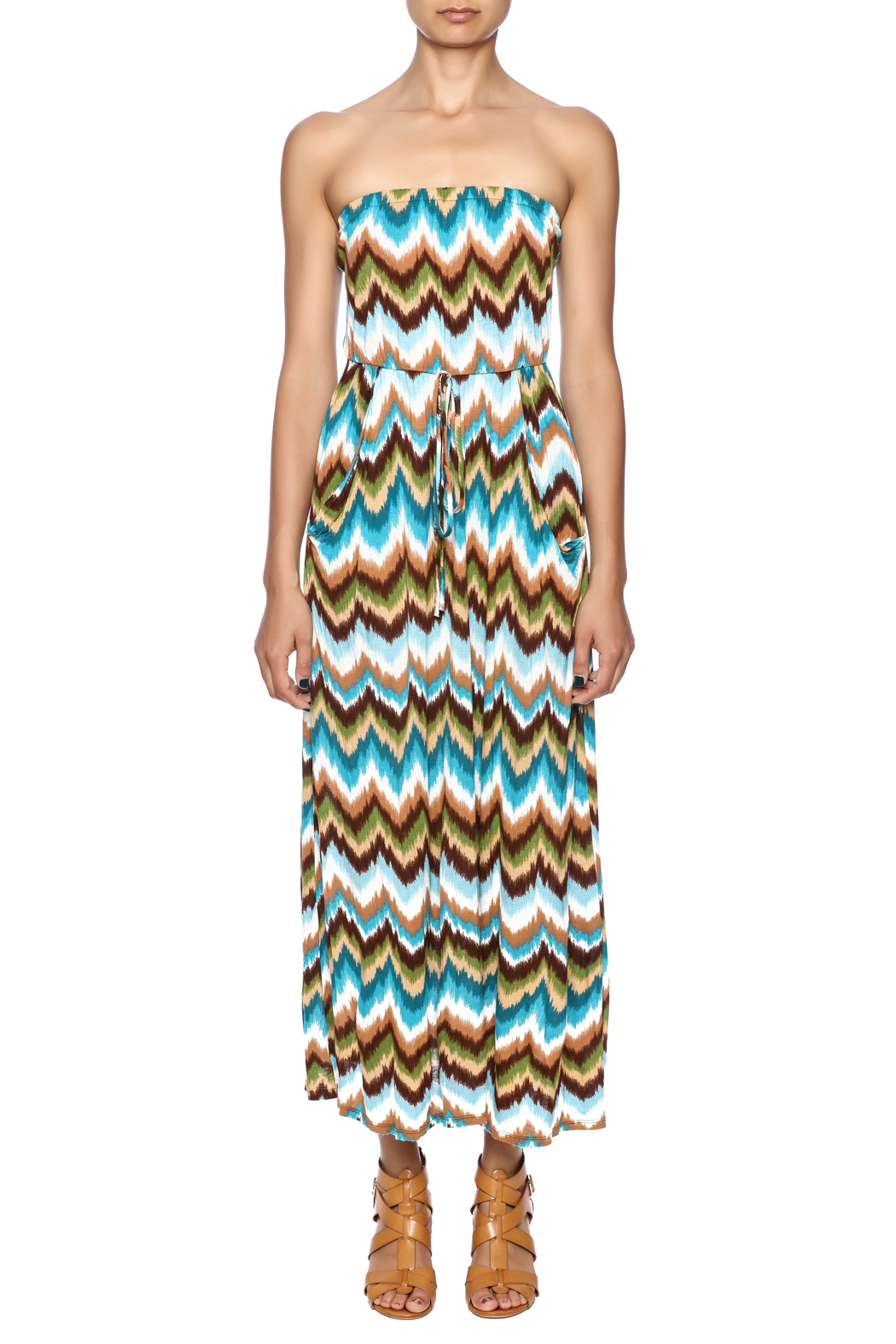 Elise Colby Chevron Maxi - Front Cropped Image