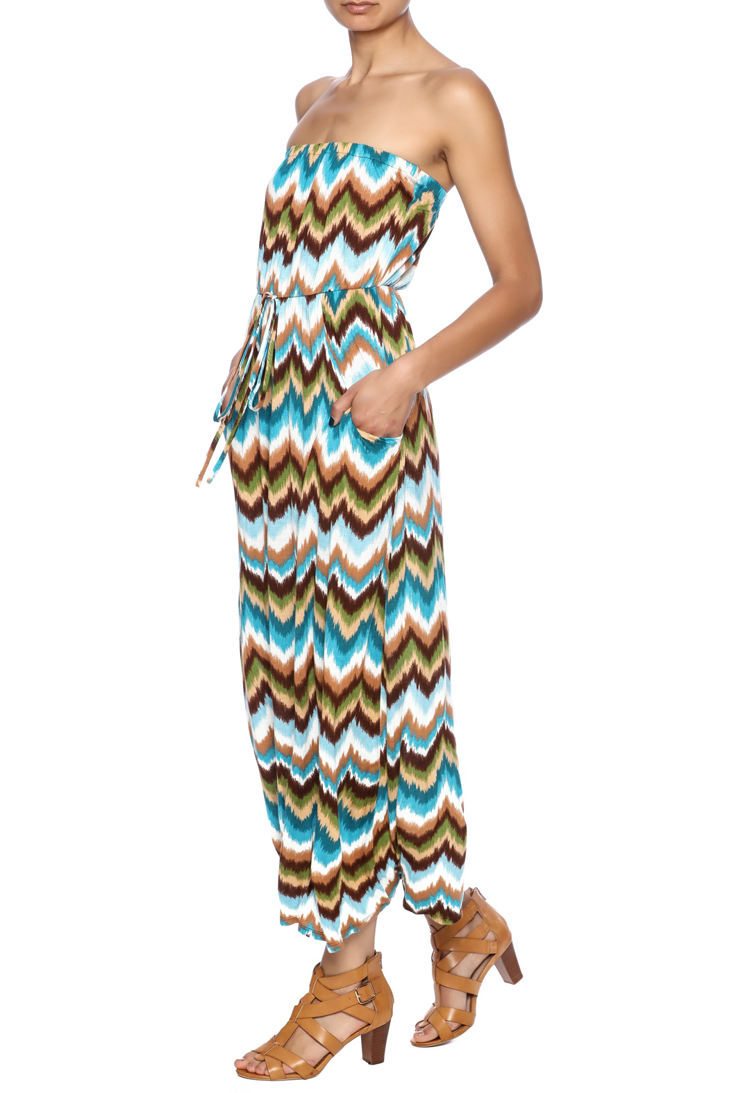 Elise Colby Chevron Maxi - Front Full Image