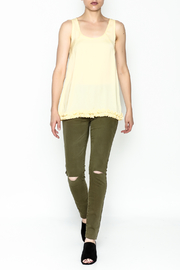Elise Yellow Racer Back Top - Side cropped