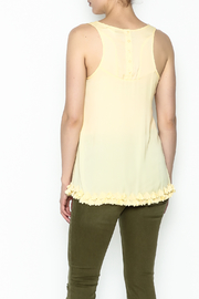 Elise Yellow Racer Back Top - Back cropped
