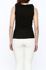 Elise Dressy Black Top - Back cropped