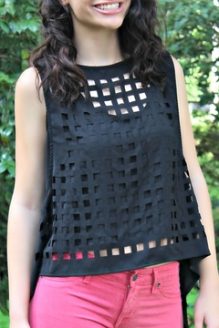 Shoptiques Product: Edgy Sleeveless Top