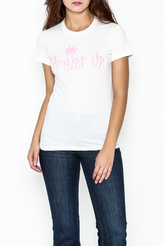 Elise Fitted White Tee - Product List Image