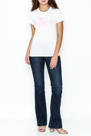 Elise Fitted White Tee - Side cropped