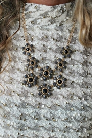 Elise Flower Bib Necklace - Front cropped
