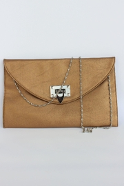 Elise Gold Envelope Clutch - Product Mini Image