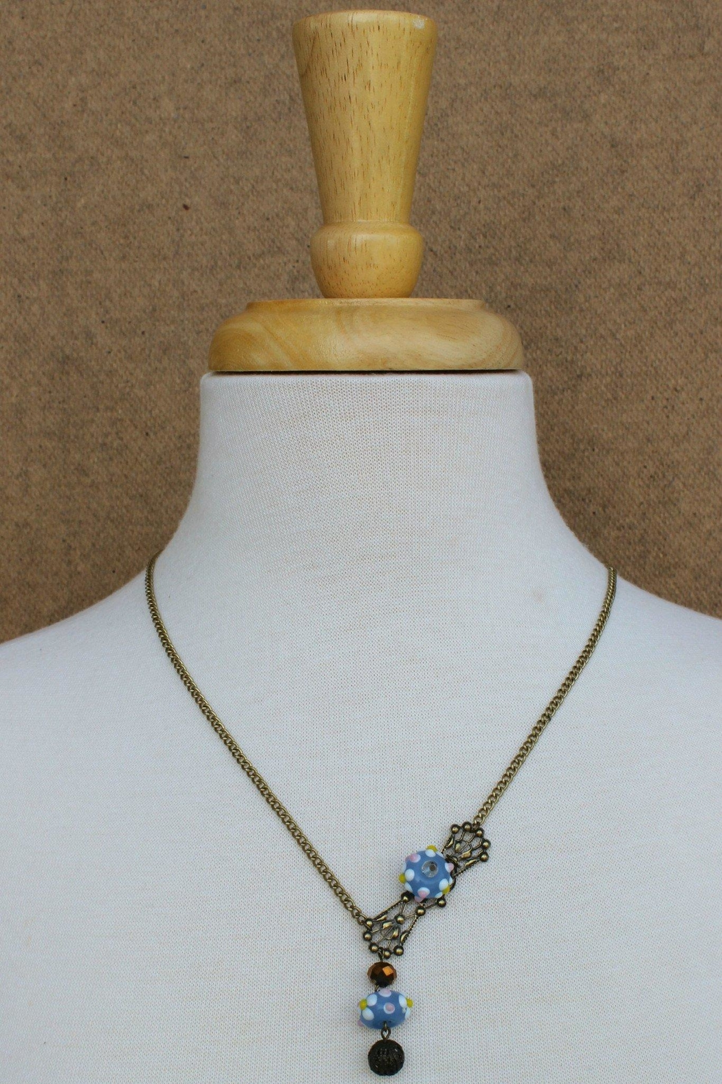 Elise Handcast Victorian Necklace - Front Full Image