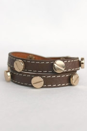 Elise Leather Wrap Bracelet - Product Mini Image