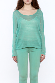 Elise Mint Green Knit Top - Side cropped