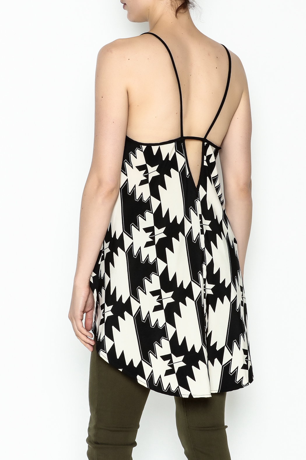 Elise Multicolor Party Top - Back Cropped Image