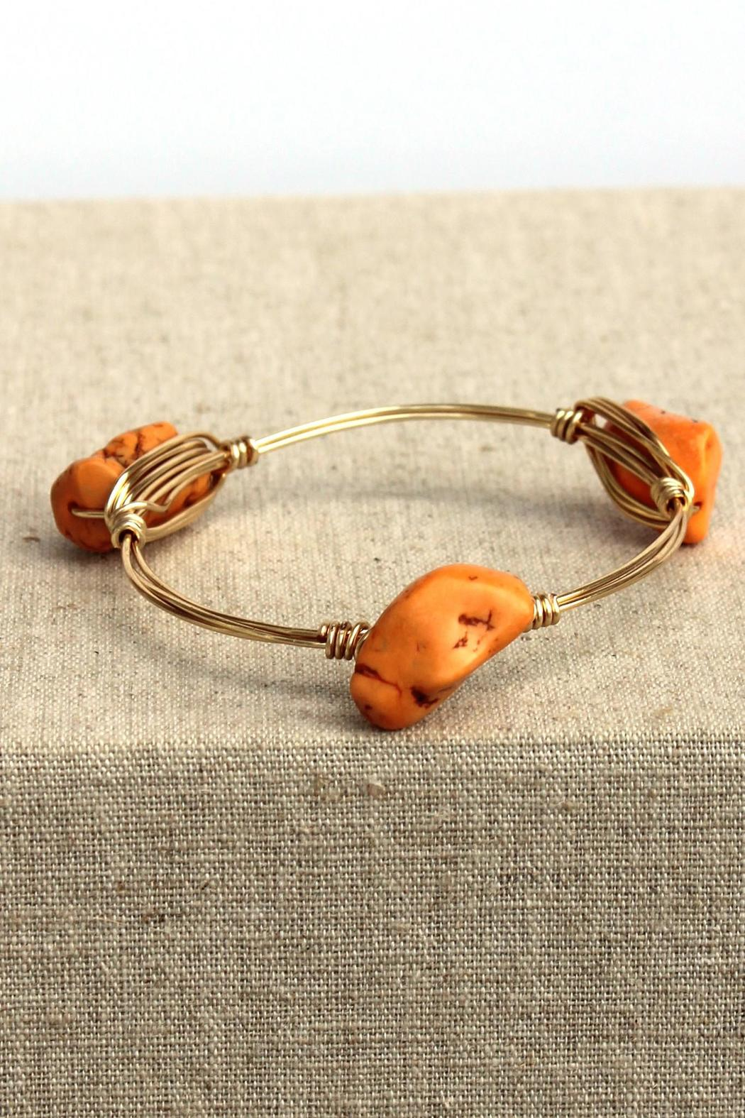 Elise Nugget Bangle Orange - Main Image
