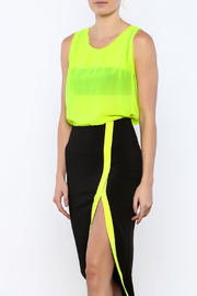 Elise Sleeveless Neon Top - Front cropped