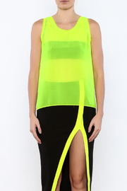 Elise Sleeveless Neon Top - Side cropped