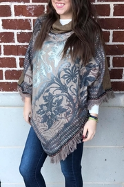 Elite Fireside Paisley Poncho - Front cropped