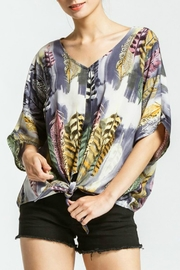 Cherish Eliya Printed Tie-Top - Product Mini Image