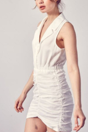 Do + Be  Eliza Collared Ruched Dress - Product Mini Image