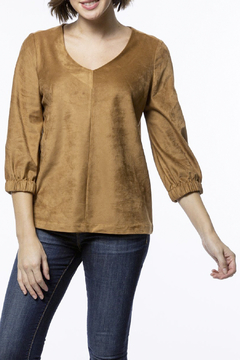 Tyler Boe Eliza Faux Suede Top - Product List Image