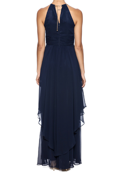 Shoptiques Product: Navy Halter Maxi
