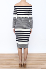 Eliza J Off Shoulder Striped Dress - Back cropped