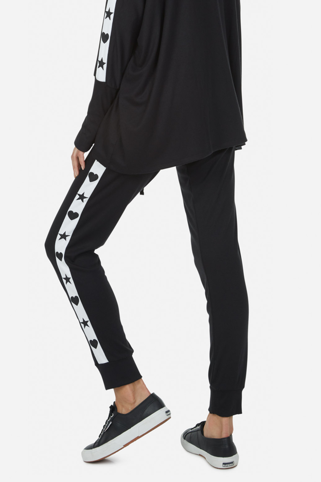 Lauren Moshi  Eliza Love Skull Tuxedo Pant - Side Cropped Image