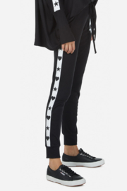 Lauren Moshi  Eliza Love Skull Tuxedo Pant - Back cropped
