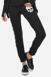 Lauren Moshi  Eliza Love Skull Tuxedo Pant - Front full body