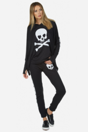 Lauren Moshi  Eliza Love Skull Tuxedo Pant - Product Mini Image