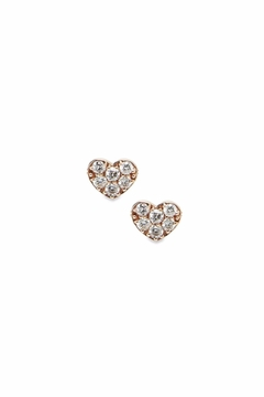 Shoptiques Product: Diamond Heart Studs