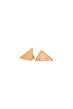Shoptiques Product: Hammered Triangle Studs